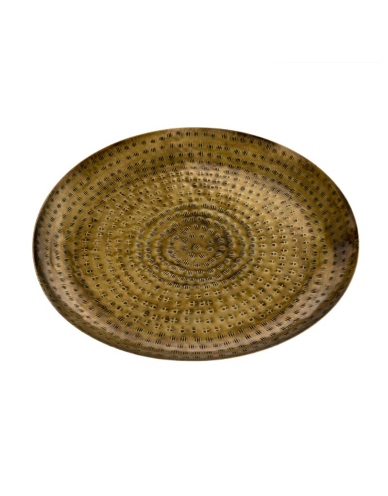 Indaba Trading Hammered Gold Tray Large