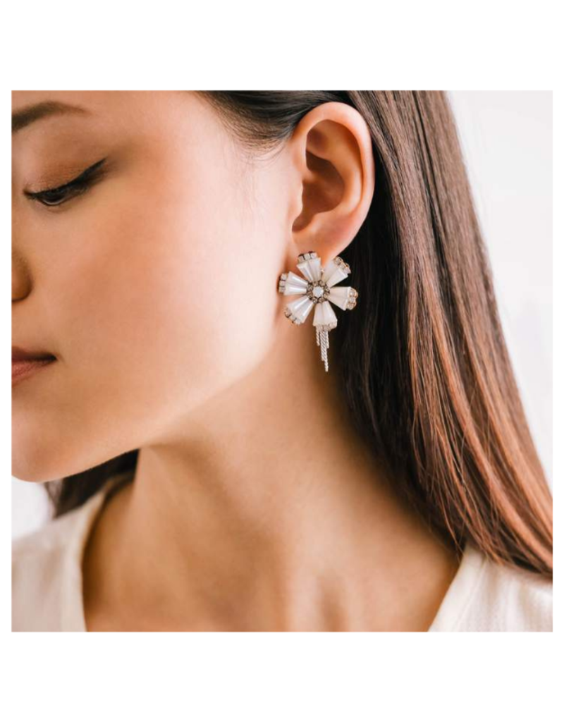 Lover's Tempo Azalea Post Earrings in White by Lovers Tempo