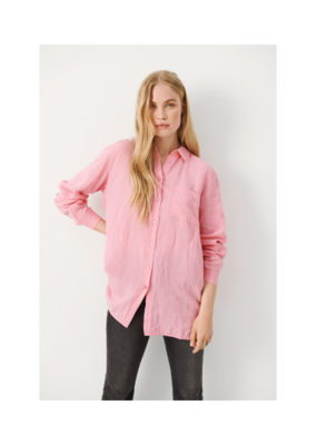 Part Two Kiva Linen Shirt in Sea Pink by Part Two