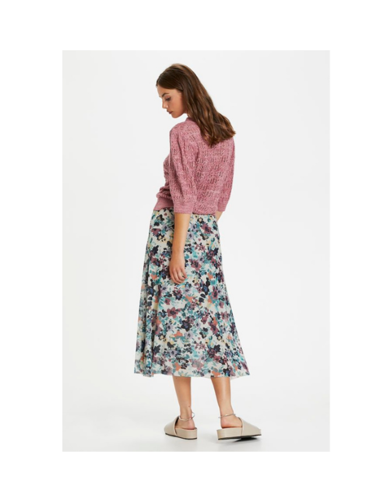 Soaked in Luxury Mully Skirt in Vivid Floral Print by Soaked in Luxury