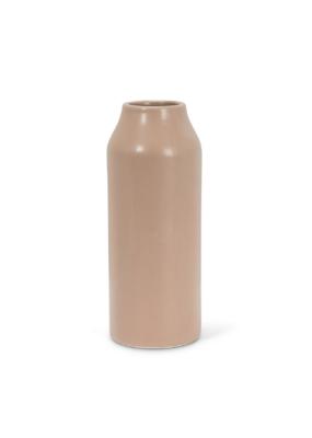 Large Taupe Matte Vase