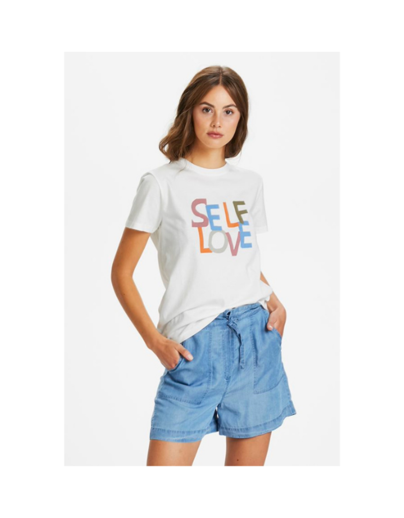 Soaked in Luxury Self Love Tshirt in Broken White by Soaked in Luxury