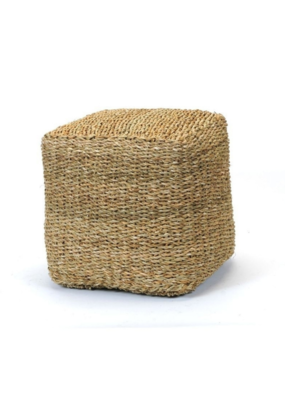 Seagreass Cube Pouf Ottoman