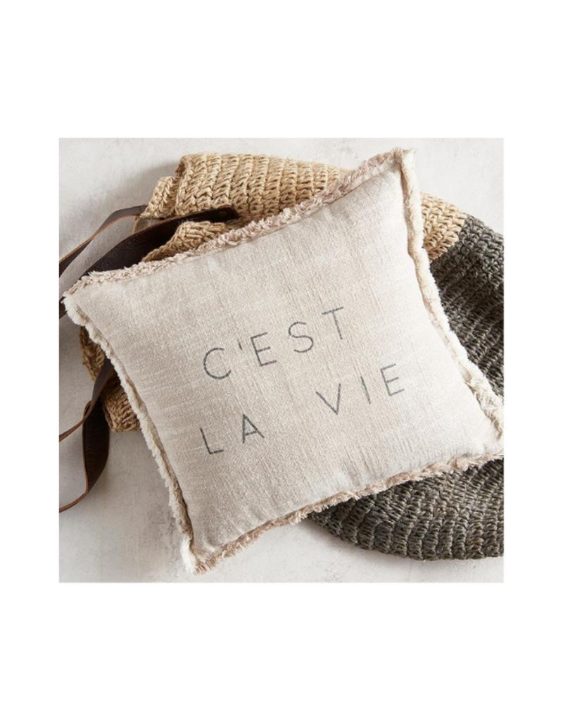 creative brands C'est La Vie Cotton Pillow
