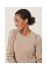Part Two Evina Cashmere Sweater in Camel Melange by Part Two