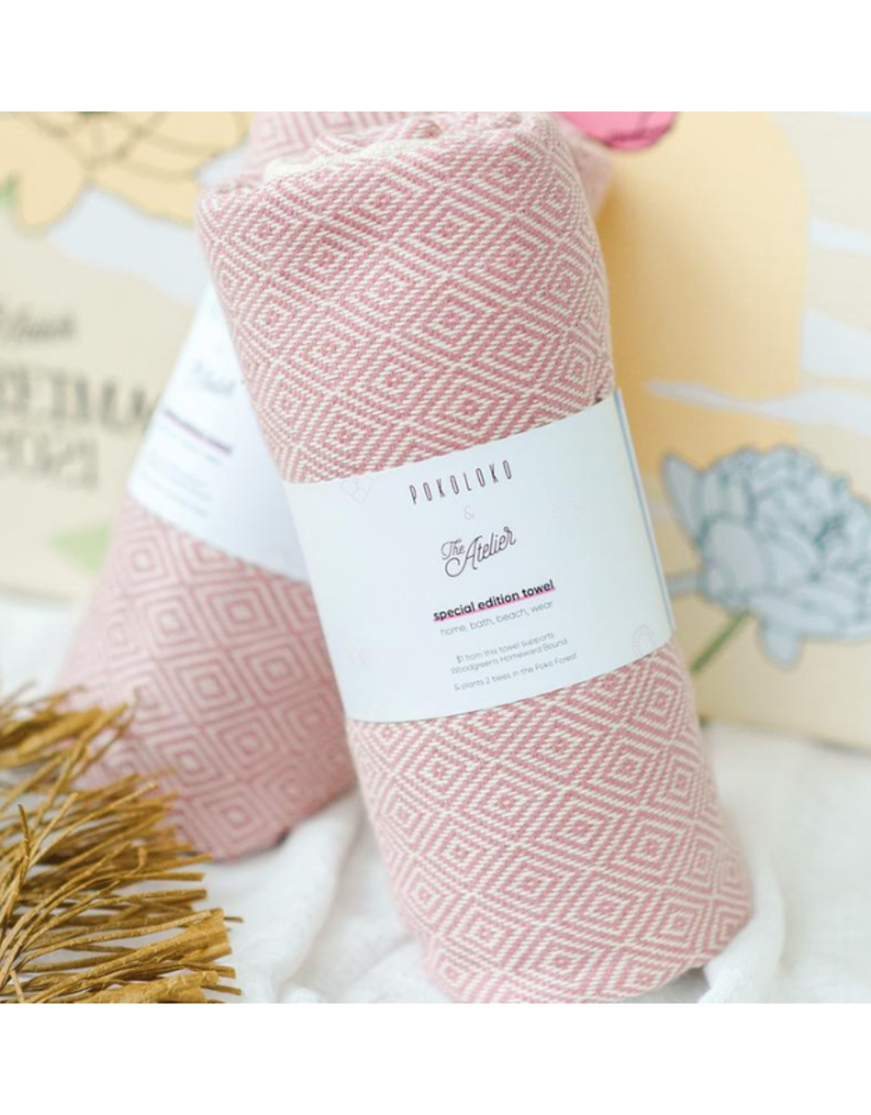 Pokoloko Diamond Atelier Pink Turkish Towel