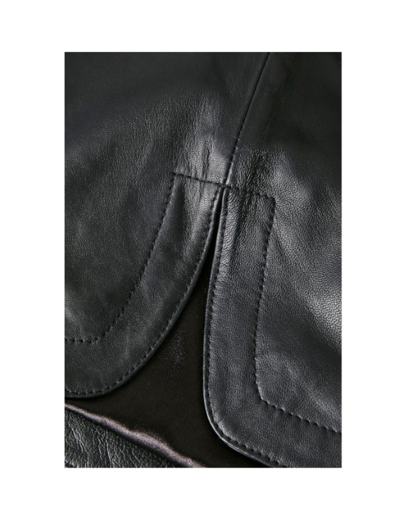 Part Two Ursanas Black Leather Skirt by Part Two
