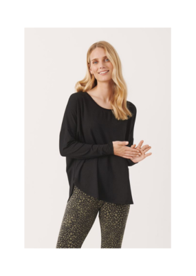 Part Two Fala Long Sleeve TShirt in Black by Part Two