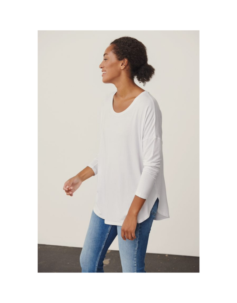 Part Two Fala Long Sleeve Tshirt in Bright White by Part Two