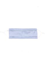 lemonwood Pleated Silk Face Mask in Dusty Blue