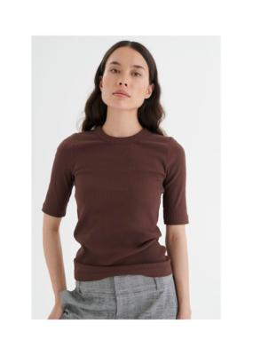 InWear Dagna Tshirt in Coffee Brown by InWear