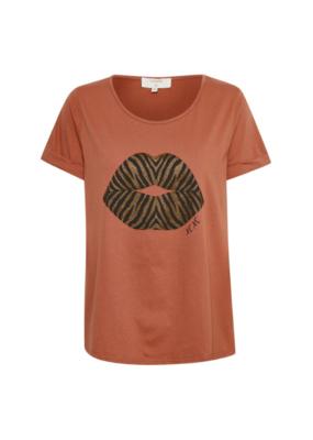Cream Dytta T-shirt in Russet by Cream