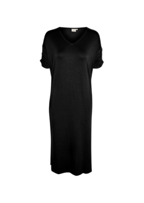 Cream Liva Long Dress in Pitch Black by Cream