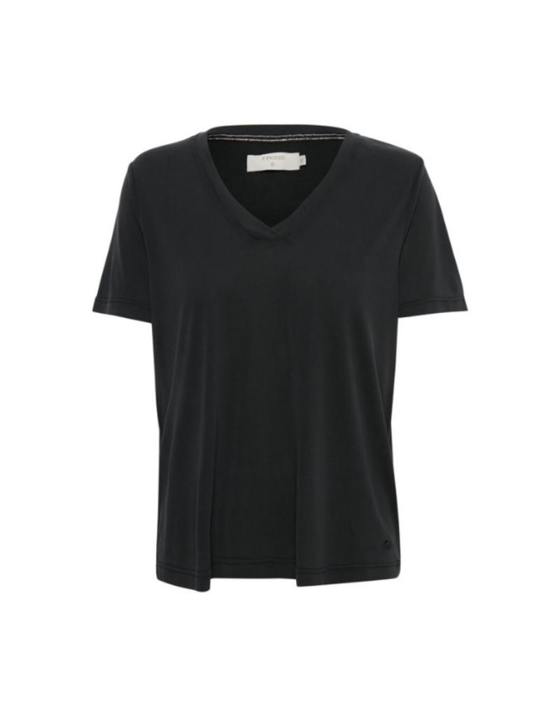 Cream Modala T-shirt in Pitch Black by Cream