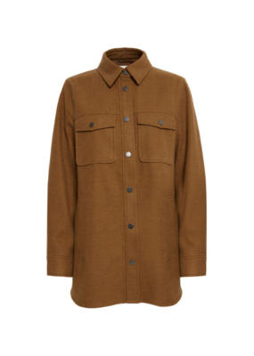 b.young Asja Shirt Jacket in Toffee Melange by b.young