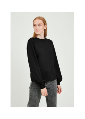 b.young Pusti Sweater in Black by b.young