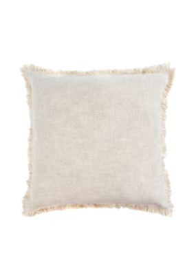 Indaba Trading Selena Linen Pillow 20x20 in Ecru by Indaba