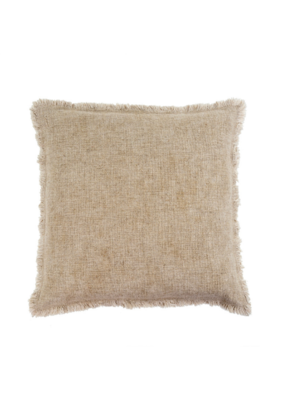 Indaba Trading Selena Linen Pillow 20x20 in Natural by Indaba