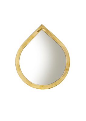 Indaba Trading Water Drop Mirror Small in Brass by Indaba