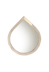 Indaba Trading Water Drop Mirror Small in Silver by Indaba