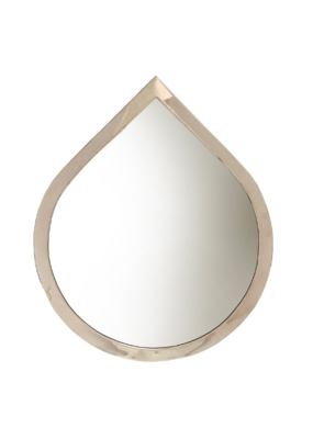Indaba Trading Water Drop Mirror Large in Silver by Indaba