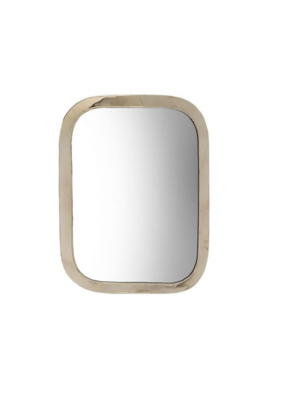 Indaba Trading Moroccan Mirror Large in Silver by Indaba