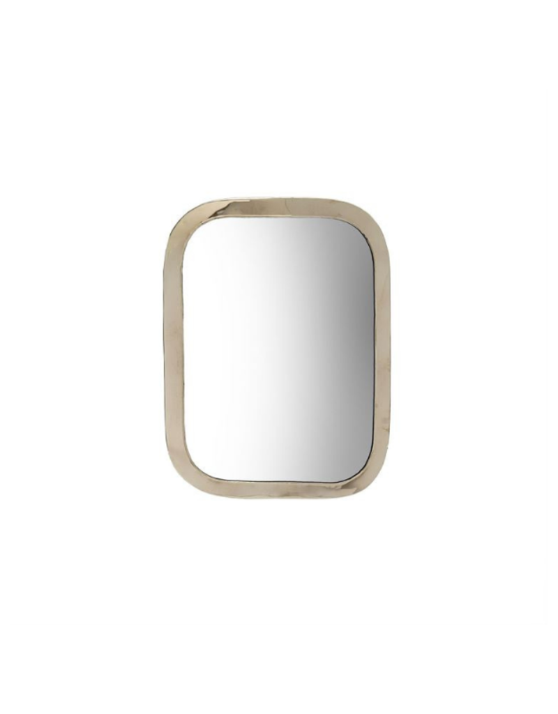 Indaba Trading Moroccan Mirror Small in Silver by Indaba