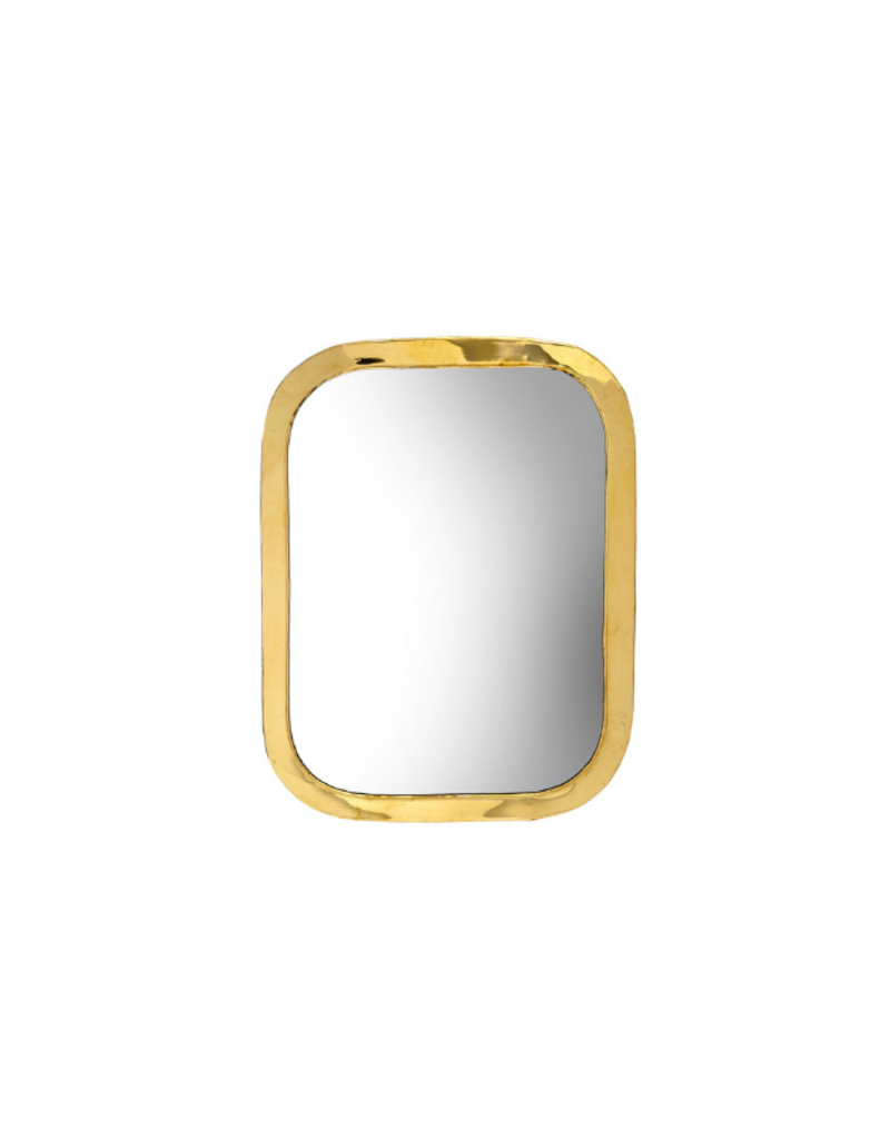 Indaba Trading Moroccan Mirror Small in Brass by Indaba