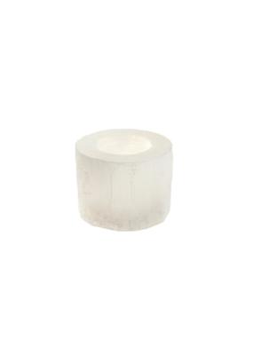 Indaba Trading Selenite Candleholder Small in White by Indaba