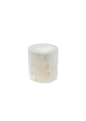 Indaba Trading Selenite Candleholder Large in White by Indaba
