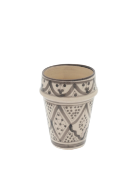 Indaba Trading Moroccan Cup in Light Grey Pattern by Indaba