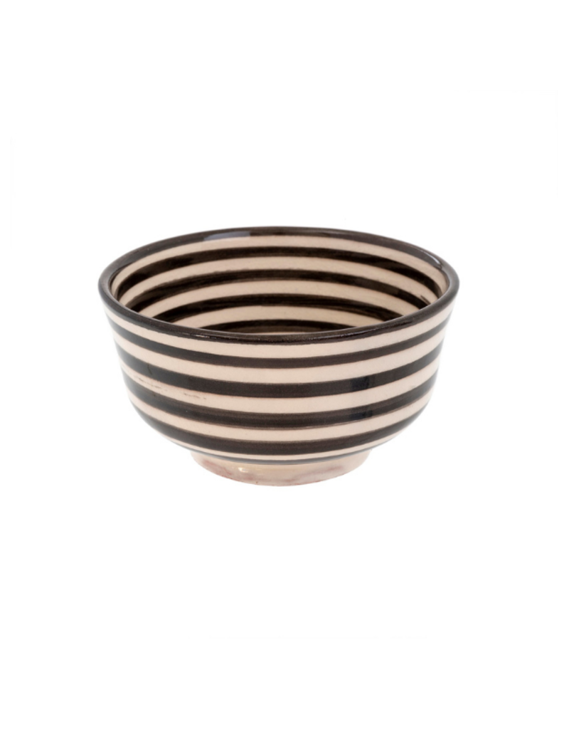 Indaba Trading Moroccan Striped Bowl in Black by Indaba
