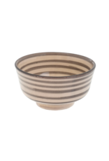 Indaba Trading Moroccan Striped Bowl in Light Grey by Indaba