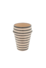 Indaba Trading Moroccan Striped Cup in Light Grey by Indaba