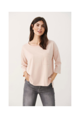 Part Two Jara Long Sleeve T-shirt in Cameo Rose by Part Two