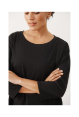 Part Two Jara Long Sleeve T-shirt in Black by Part Two