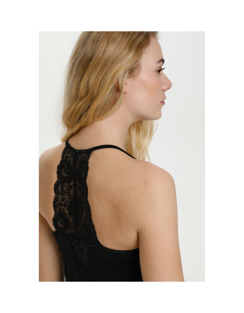 Culture Poppy Lace Slipdress in Black by CULTURE