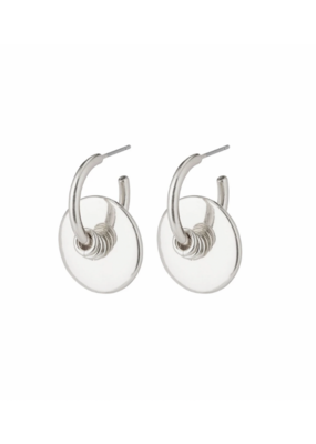 PILGRIM Clarity deco hoops Silver-Plated by Pilgrim
