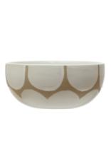 Stoneware Bowl with Scallop Design