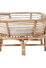 Rattan Dog Bed with Cushion