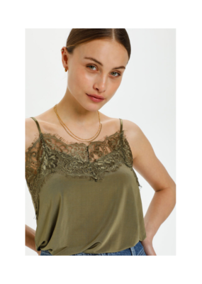 Soaked in Luxury Clara Singlet in Martini Olive by Soaked in Luxury