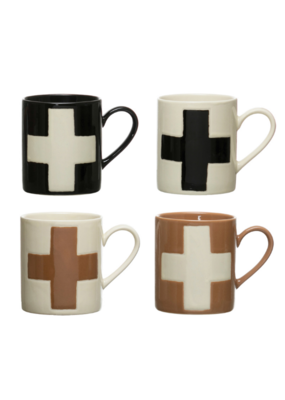 Stoneware Mug with Swiss Cross