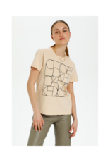 Soaked in Luxury Mono Tee in Sand by Soaked in Luxury