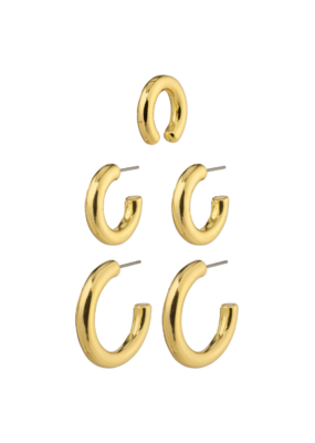 PILGRIM Reconnect  Earrings Gold-Plated by Pilgrim