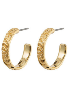 PILGRIM Blair Hoop Earrings Gold-Plated by Pilgrim