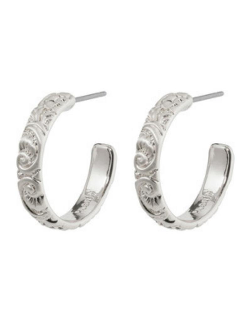 PILGRIM Blair Hoop Earrings Silver-Plated by Pilgrim