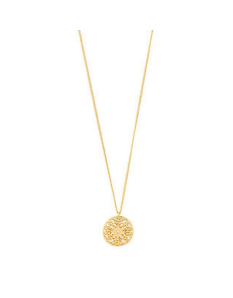 PILGRIM Carol Necklace Gold-Plated by Pilgrim