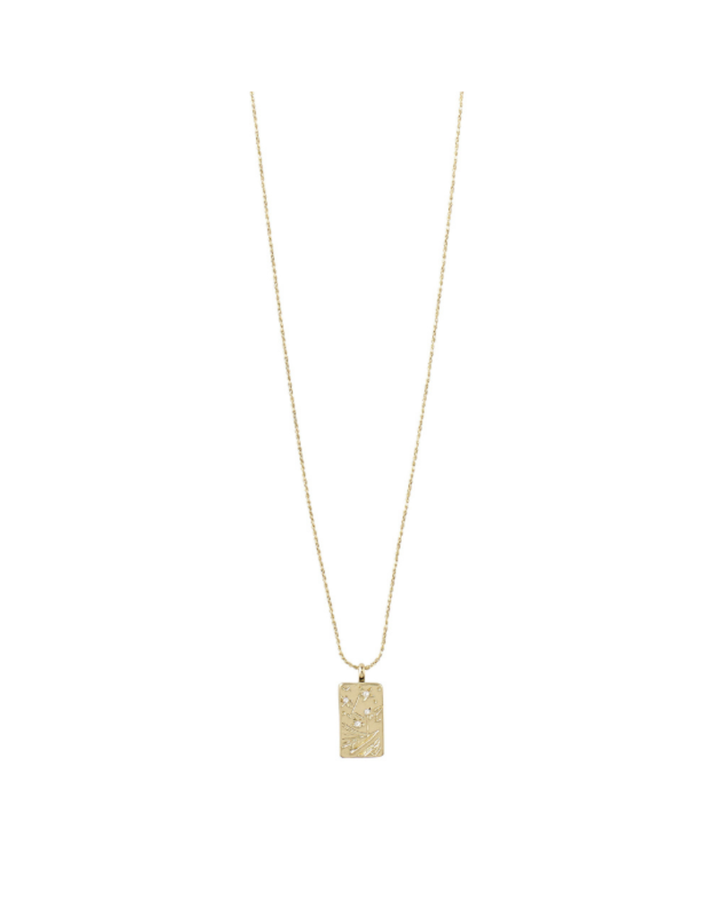 PILGRIM Gracefulness Necklace Gold-Plated with Crystals by Pilgrim