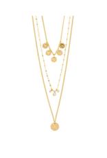 PILGRIM Carol Layered Necklace Gold-Plated by Pilgrim