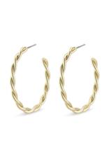 PILGRIM Naja Earrings Gold-Plated by Pilgrim